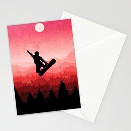 Snowboard Skyline I Stationery Cards
