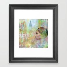 if you go away Framed Art Print