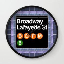 subway broadway sign Wall Clock