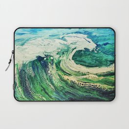 Take a Boat off to the Sea, Blue, Painting Laptop Sleeve