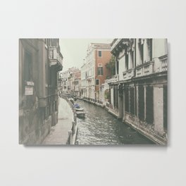 Venice canal, Italy Metal Print