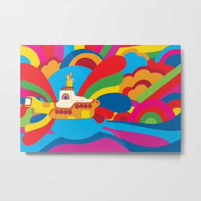 yellow submarine metal print by jaimeviens society6
