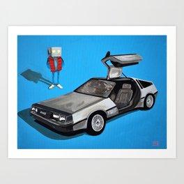 Delorean and Me, a Back to the Future Tribute Art Print