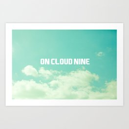 On Cloud Nine  Art Print