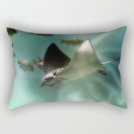 Majestic Flight of the Stingray Rectangular Pillow