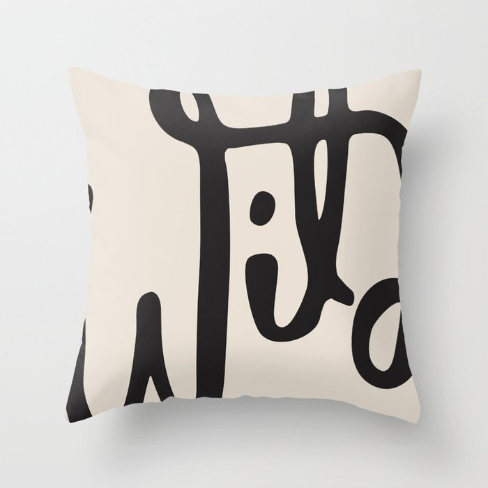 wild abstract Throw Pillow