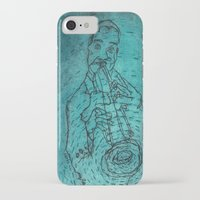 louis armstrong iPhone & iPod Cases featuring Louis Armstrong by Cristina Curto