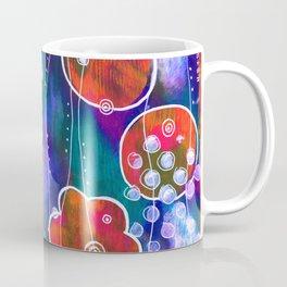 Flower Circles Red Pattern Coffee Mug