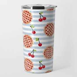 Pies with stripes trendy food fight apparel and gifts Travel Mug