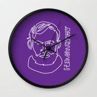 hemingway Wall Clocks featuring Hemingway by G_Stevenson