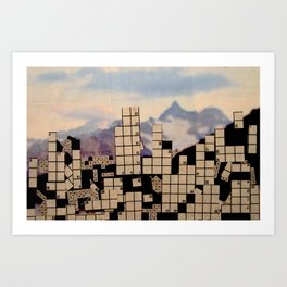 Crossword City Art Print