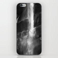 Yosemite National Park - Vernal Falls Black and White iPhone & iPod Skin