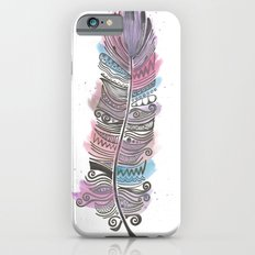 Purple and Blue Zen Feather Slim Case iPhone 6s