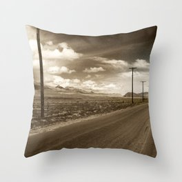The Road Ahead Throw Pillow