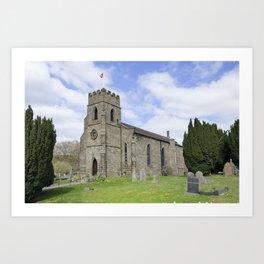 Tansley  church Art Print