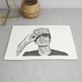 Wiz khalifa fan art Rug