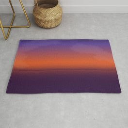 California Cold Sunset on the Beach Colors Rug