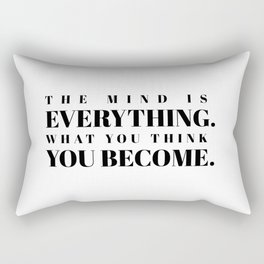 the mind is everything Rectangular Pillow