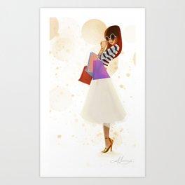 Shopping! Art Print