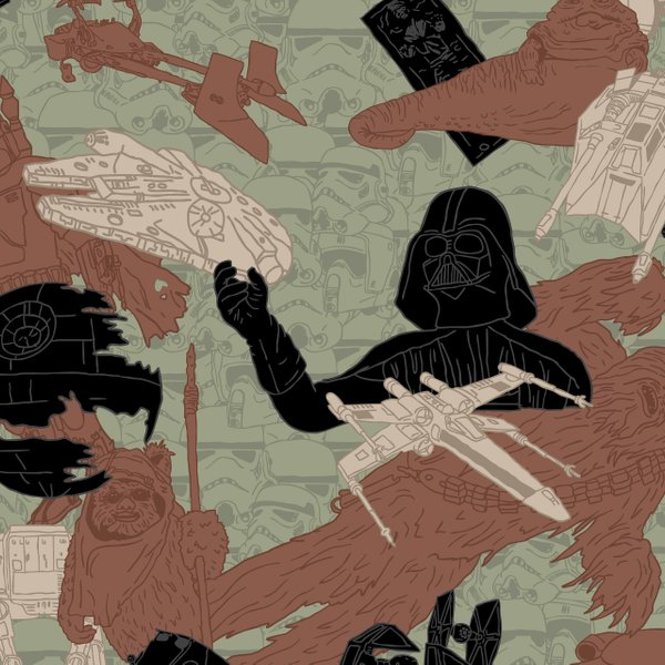 camo pattern with Darth Vader, the Death Star and more