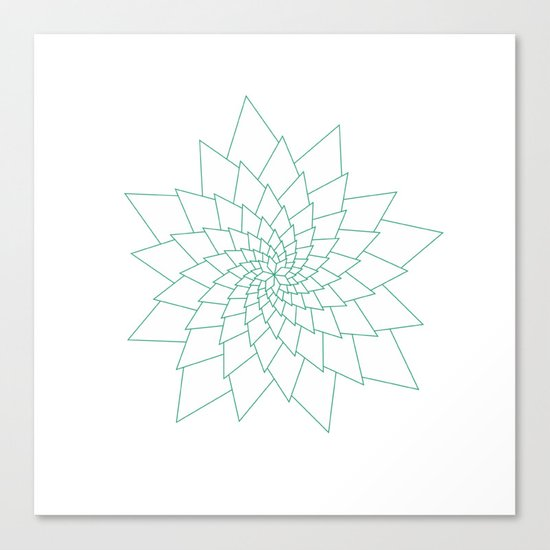 #307 Aster – Geometry Daily Canvas Print