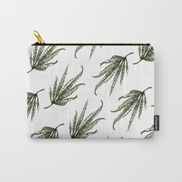 Hempsley Watercolor Leaf pattern Carry-All Pouch