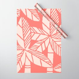 Tropical Palm Tree Composition Coral Wrapping Paper