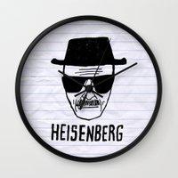 heisenberg Wall Clocks featuring HeisenBerg by IIIIHiveIIII