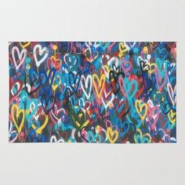 Love Wall Graffiti Street Art Rug