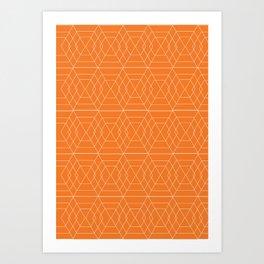 orange hex Art Print
