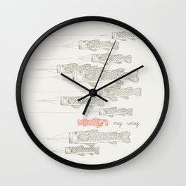 My Way Wall Clock