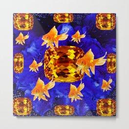 Surreal Goldfish Gems  Dreamscape Metal Print