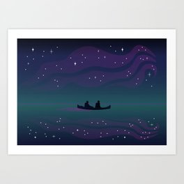 Dancing Lights - The Voyage Collection Art Print