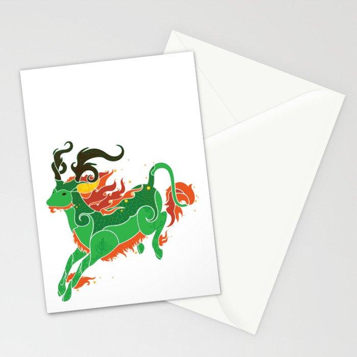 Qilin Stationery Cards