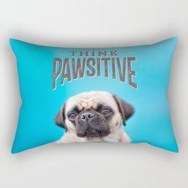 think PAWsitive Rectangular Pillow