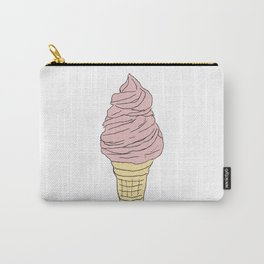 Strawyberry Ice Cream Cone Carry-All Pouch