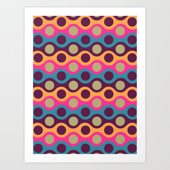 Chain of Colors Art Print
