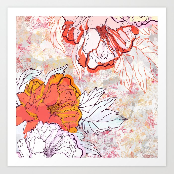 Abstract Floral Illustration Art Print