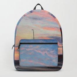 Freeway sunset Backpack