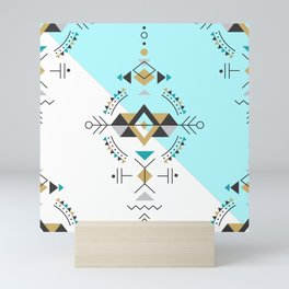 Tribal geometric secret geometry design design Mini Art Print