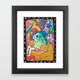 Sick Couch Framed Art Print
