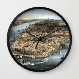 New York-1856 Wall Clock