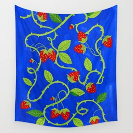 Strawberry Plant Wall Tapestry