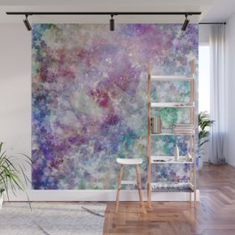 Rainbow Stars Space Galaxy Pattern Wall Mural