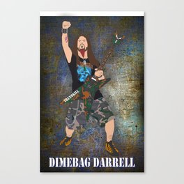 Dimebag (Vector Art) Canvas Print