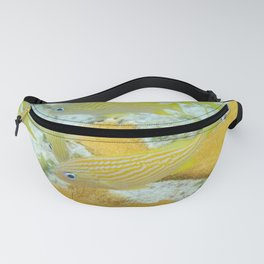 Yellow Coral Reef Fish Fanny Pack