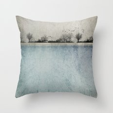 Winter Landscape - Susan Weller Throw Pillow