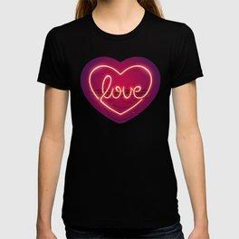 Love Heart Neon Sign T-shirt