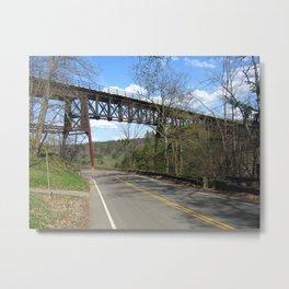 Railroad Truss Bridge Metal Print