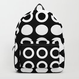 Mid Century Modern Circles And Dots Black & White Backpack